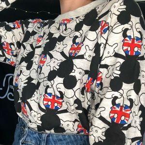 Mikey Mouse UK Print Long Slv Shirt/Light Sweater